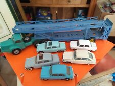 NOREV TRACTEUR BERLIET TBO 15 TRANSPORT AUTO + 5 MINIATURES NOREV MADE IN FRANCE