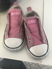 Baby Girl Converse Infant Pink Trainers Shoes Pumps Size 6