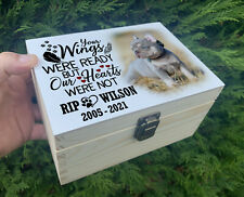 Wooden pet urn, Small wooden keepsake memorial box, Urn for dog ashes,