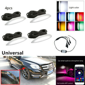 Car Wheel Eyebrow LED Colorful Music Phone App Control Ambient Light Lamp Bulbs