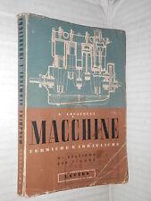 CORSO DI MECCANICA E MACCHINE Macchine termiche e idrauliche Aldo Locatelli 1950