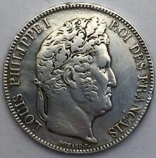 Piece 5 francs Louis Philippe 1833 W argent #305