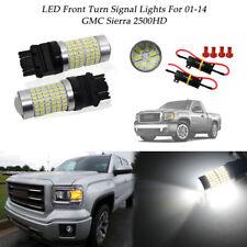 2Pcs White LED bulbs Turn Signal Lights Bulbs For 2012-2018 Ram 1500 144-SMD HID
