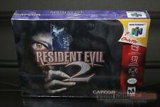 Resident Evil 2 (Nintendo 64, N64 1999) H-SEAM SEALED! - EXCELLENT! - RARE!