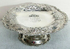TIFFANY & CO STERLING SILVER PETITE FOOTED CAKE DISH #5458
