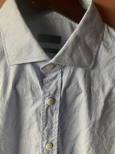 Z Zegna Men's Button Shirt Slim 16.5 X 35 or 42 Large L