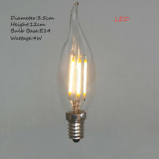 4W E14 LED Candle Style Candelabra Vintage Light Bulb Warm Yellow Free Shipping
