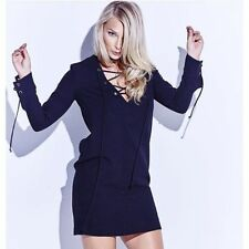 Kookaï ANJA LACE UP  DRESS black  Colour Sz 34 (F37)
