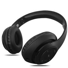 Black Foldable Bluetooth Stereo Headphones with Mic Super Bass Headset Over Ears