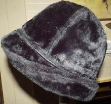 Vintage Resistol Fedora Hat Black Fur Mouton Ear Flaps Size Medium