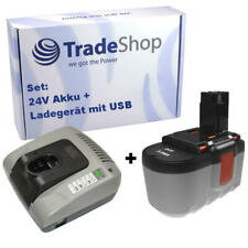 2in1 Set Piles 24V 3000mAh + Chargeur pour Bosch 2607335538 2607335561
