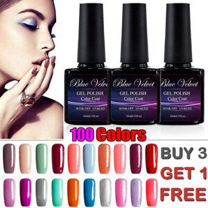 Nail Gel Nail Polish UV LED Soak Off Nail Varnish Top Base Colour Nail Gels 10ml