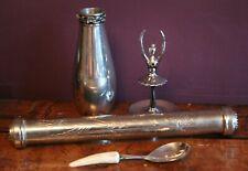 Bundle Metalware Epns Silver Plate Pewter - Rs Pewter vase, Ballet Ring Holder