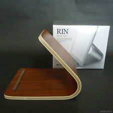 RIN Wood Tablet Stand Holder / For iPad Nexus PC tablet / Wooden Brown / Modern
