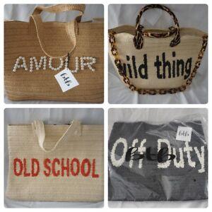 BTB Los Angels Beyond The Beach Large Straw Shoulder Bags NWT