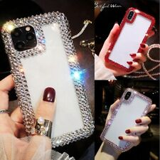 For Samsung S21 S20 S10 S9 Note20 10 9 Glitter Bling Diamond Clear Case Cover