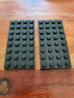 LEGO Ref 3035 ⚡ Lot x2 ⚡ Plaque 4X8 ( noir / black ) Plate