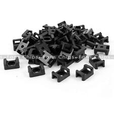 50PCS 5mm HC-1 Nylon Cable Saddle Shape Tie Holder Mount Wire Holder CF