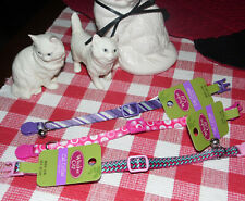 """Whisker Cat Collar Bundle~Three 12"""" All Different Designs And Colors~Nwt~Ct#4"""