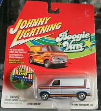 Johnny Lightning Boogie Vans 1976 Ford Econoline E 150 Silver 70s w Sticker 2001