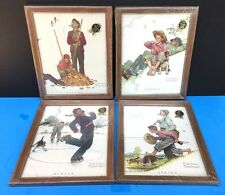 NORMAN ROCKWELL SET OF 4 PRINTS FOUR SEASONS GRANDPA & ME >> NEW SEALED & FRAMED