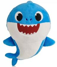 Pinkfong Baby Shark Official English Version Song Doll Blue Daddy Shark IN HAND