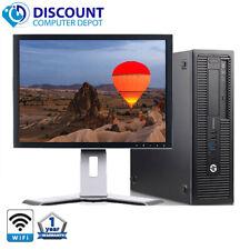 "HP Desktop Computer 400 G1 Core i3 3.4GHz 8GB 500GB 19"" LCD Windows 10 PC"