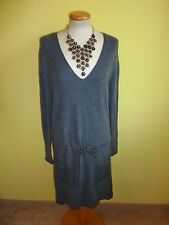 Kleid Stefanel Longpulli grau Tunika Größe L neu