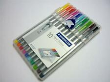 Staedtler triplus fineliner 0.3mm 10 colours in a wallet ergonomic pens 334 SB10
