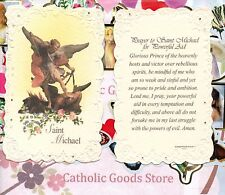 Saint Michael - Prayer to St. Michael for Powerful Aid - Laced  Holy Card.