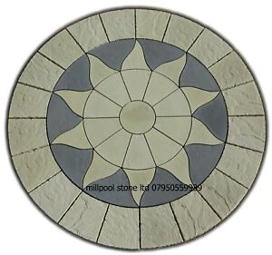 2.56m Sun circle paving slabs stones patio garden flags (delivery  exceptions)