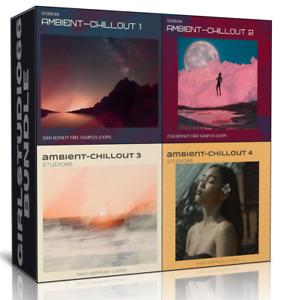 Ambient & Chillout Bundle Packs 1-4 Wav Loops Bitwig, Logic Cubase Ableton Live