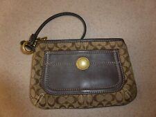 Coach Handbag Wristlet Canvas Leather Mini Bag Handbag Purse