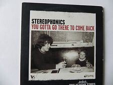 STEREOPHONICS PROMO CD ALBUM YOU GOTTA GO THERE TO COME BACK