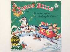 Vintage Cricket Records, Jingle Bells and It came upon a Midnight Clear 45RPM