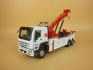 1:35 China XCMG QZF10 Road Service Rescue Wrecker Truck Crane Model