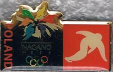 1998 Nagano Poland Olympic Short Track Speed Skating Team NOC Pin