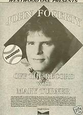 John Fogerty Off The Record Westood One 1985 Poster Ad