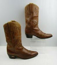 Men's Winston Clemente Brown Leather Western Cowboy Boots Size: 9.5 D