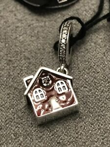 Authentic PANDORA Cozy Christmas House Sterling Silver Charm 797517EN27 NWT
