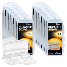 120 Duracell Activair Hörgerätebatterien PR48 Orange 13 + Box f. 2 Zellen