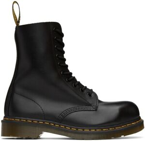 NIB Dr. Martens 1919 LEATHER MID CALF 10-Eye Leather Boots 10105001