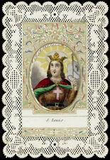 santino merlettato-canivet-holy card S.LUIGI RE DI FRANCIA