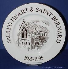 SACRED HEART & SAINT BERNARD 1895-1995 * Halifax * Rare Collectors Plate * 21cm