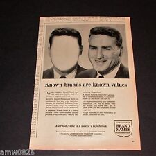 VINTAGE PRINT AD 1961 BRAND NAMES FOUNDATION CONSUMER PROTECTION CANADA
