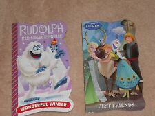 NEW, LOT OF 2 BOARD BOOKS, RUDOLPH THE RED NOSED REINDEER & DISNEY FROZEN