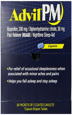 Advil PM Pain Reliever With Nighttime Sleep Aids, 100 Count PMBOX50