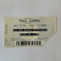 Paul Simon - NEC Arena Birmingham November 11 2006 concert ticket stub