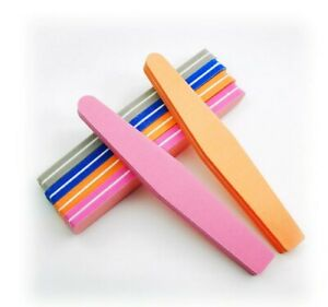 20pcs/lot Double Side Nail FILES Buff 100/180 Colorful Sanding Sponge