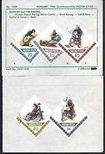 Hungary (Magyar Posta) #1475-79 Car Racing, Scooters, Issue of 1962-Used